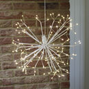 White Copper Wire LED Light Hanging Ball