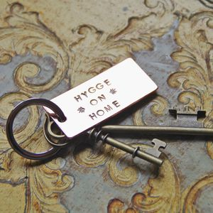 Hygge On Home Chunky Copper Handstamped Key Ring