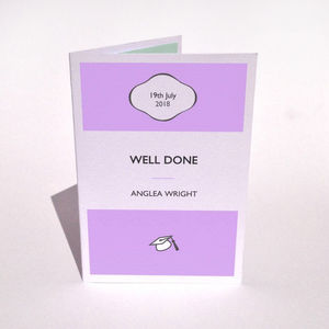 Personalised Well Done Stripe Card