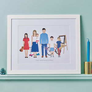 Personalised Family Portrait - gifts for her