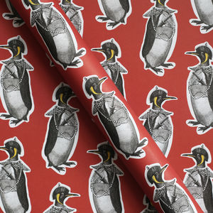 Emperor Penguin Luxury Wrapping Paper - cards & wrap