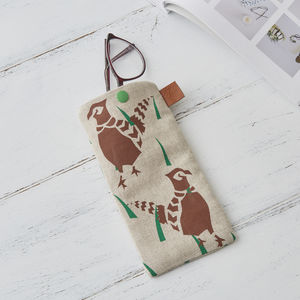 Pheasants Glasses Case