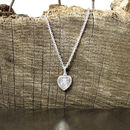 Silver Mini Heart St Christopher Necklace