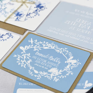 'Our Story' Save The Date Cards More Colours