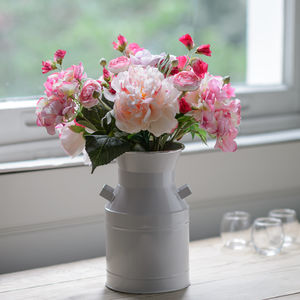 Silk Summer Garden Blooms With Flower Churn