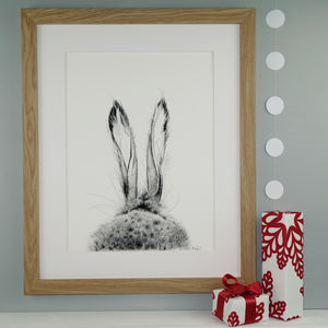 Fine Art Hare Giclée Print 'The Runners One' - easter home