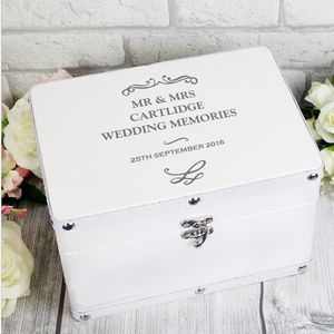Personalised Wedding Keepsake Box Storage Organisers