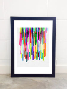 Colourful Stripes Four By Mareike Boehmer - posters & prints