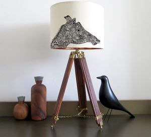 Giraffe Lampshade With Colour Inside Lining - children's room