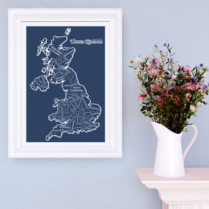 Counties Of The UK Print