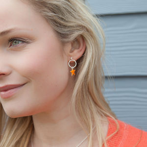 Bright Star Hoop Earrings - earrings