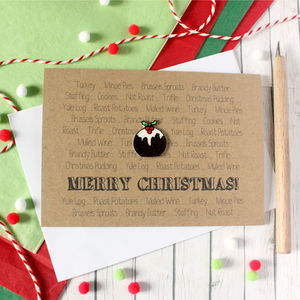 Christmas Pudding, Merry Christmas Card