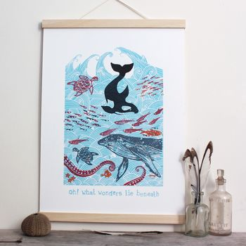 Oh, What Wonders Lie Beneath! Screen Print