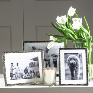 Fine Silver Hammered Photoframe - picture frames