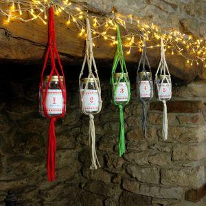 Macrame Advent Calendar Jar
