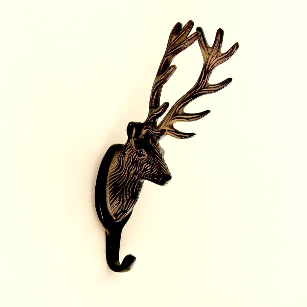 Large Stag Coat Hook