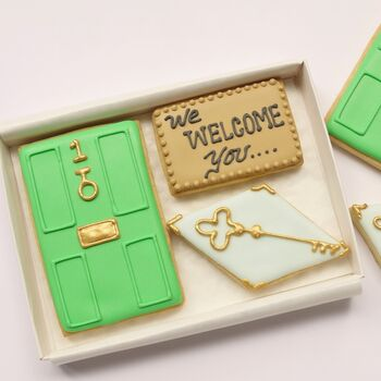 Personalised New Home Hand Decorated Cookie Gift