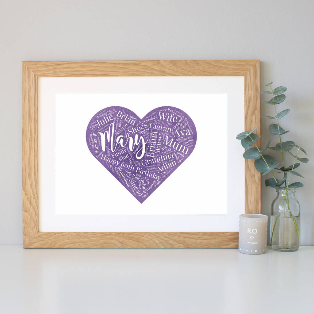 Personalised Watercolour 60th Birthday Gift
