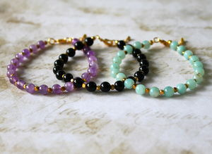 Children's Handmade Semi Precious Stone Bracelet - children's jewellery