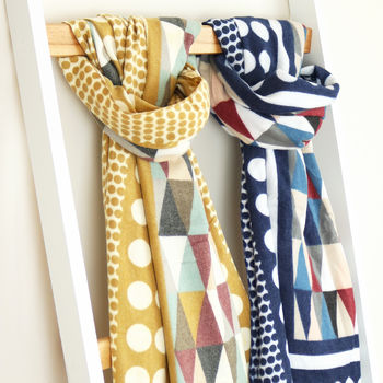 Cashmere Patterned Scarf