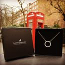 Long Bar Necklace Cz 925 Silver Rose Gold