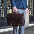 Mens Full Grain Leather Business Satchel. 'The Jesolo'