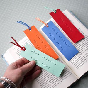 Personalised Leather Bookmark For Teachers