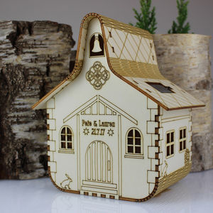 Personalised Wedding Chapel Nightlight - children's room accessories