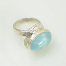 Aaliyah Ring Aquamarine And Silver