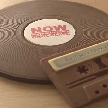 'Now' Chocolate Vinyl Record And Cassette