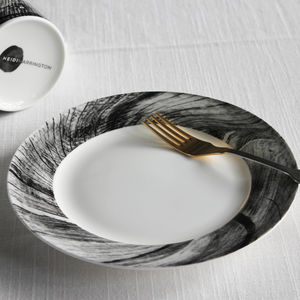 Woodcut Ceramic Side Plate - serveware