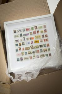 His And Her Country Framed Stamps