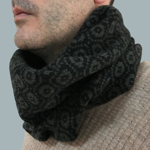 Mens Knitted Lambswool Snood - scarves