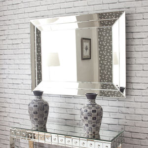 Adeline Contemporary Bevelled Mirror - mirrors