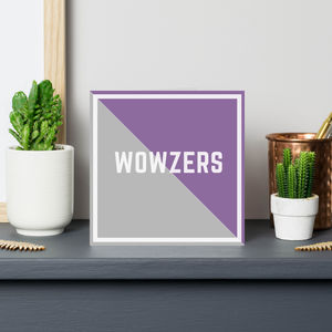 'Wowzers' Congratulations Well Done Card - congratulations cards