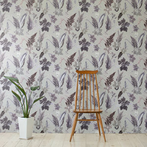 Vintage Tropical Statement Wallpaper, Winter Flourish - home decorating