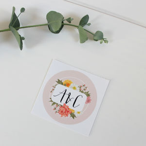 Personalised Floral Stickers - spring styling