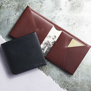 Personalised Leather Wallet Gift - father's day gifts