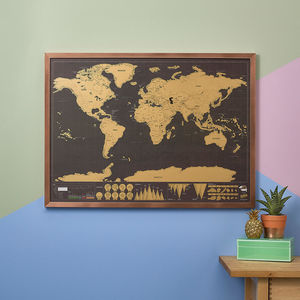 Deluxe Edition World Scratch Map - gifts for him