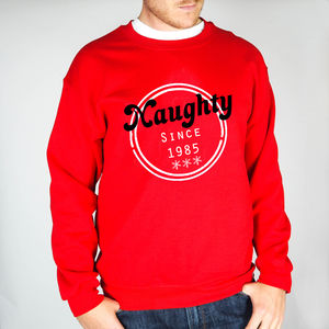 Personalised 'Naughty Since' Christmas Jumper - sweatshirts & hoodies