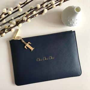 Personalised 'Chic Chic Chic' Deep Blue Pouch - view all new