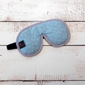Eye Mask Chambray Star Print Personalised