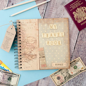 Personalised 'My Travel Book' Keepsake Journal