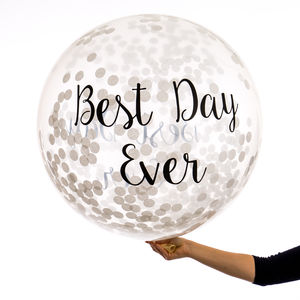 Best Day Ever Confetti Giant Balloon - room decorations