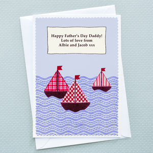 Dad / Daddy 'Sailing' Father's Day Card