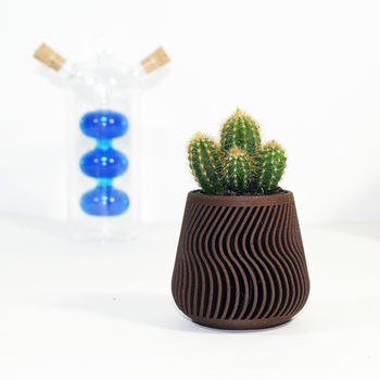 Patterned Wood Planter
