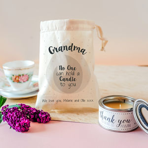 Personalised Amazing 'Grandma' Candle In Gift Bag