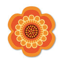 Flower Power Design Placemat - Orange