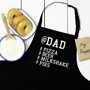 Personalised Name And Favourite Hashtags Apron - gifts from younger children