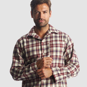Men's Brushed Cotton Pyjamas - men's fashion